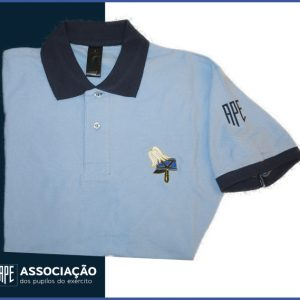 I0868-Polo Azul do Pilão com símbolo da barretina no peito, em vários tamanhos do S ao XXL