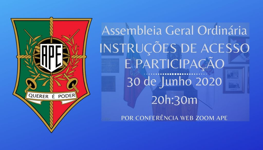 Instruções de acesso e participação na AG zoom