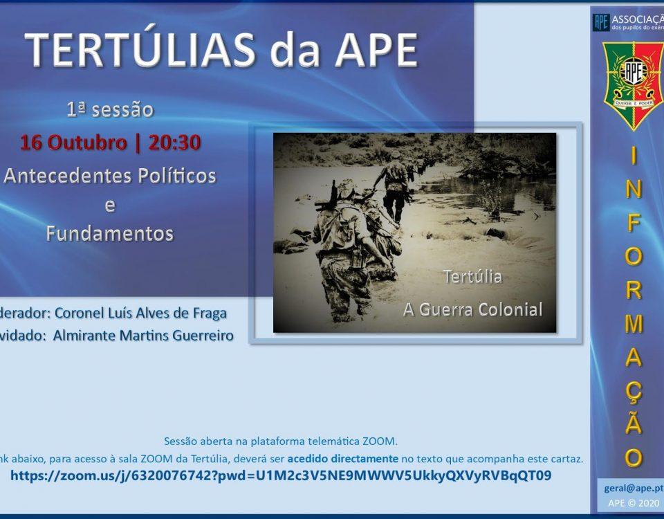 Tertúlia APE - Guerra Colonial
