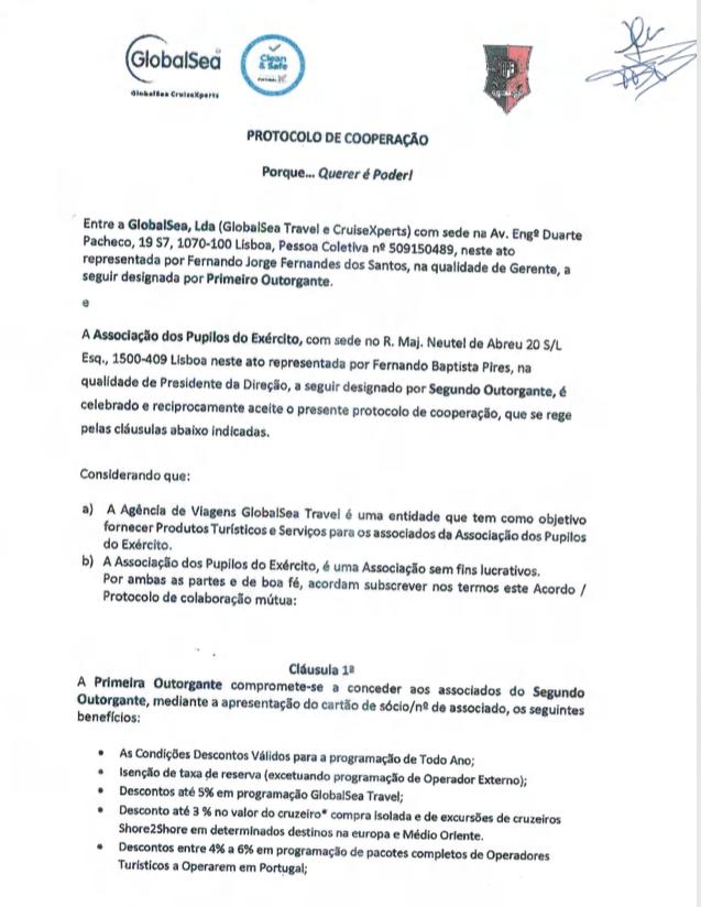 Protocolos APE  Agência de Viagens GlobalSea